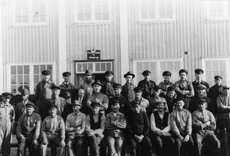 S14KGG 001124 - De manliga arbetarna på konservfabriken, 1926.