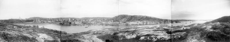 S14KGG 001155 - Panorama över Grebbestad, 1909