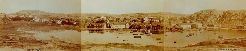S14KGG 001154 - Panorama över Grebbestad, 1890